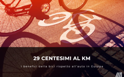29 centesimi al km: i benefici della bici rispetto all'auto in Europa
